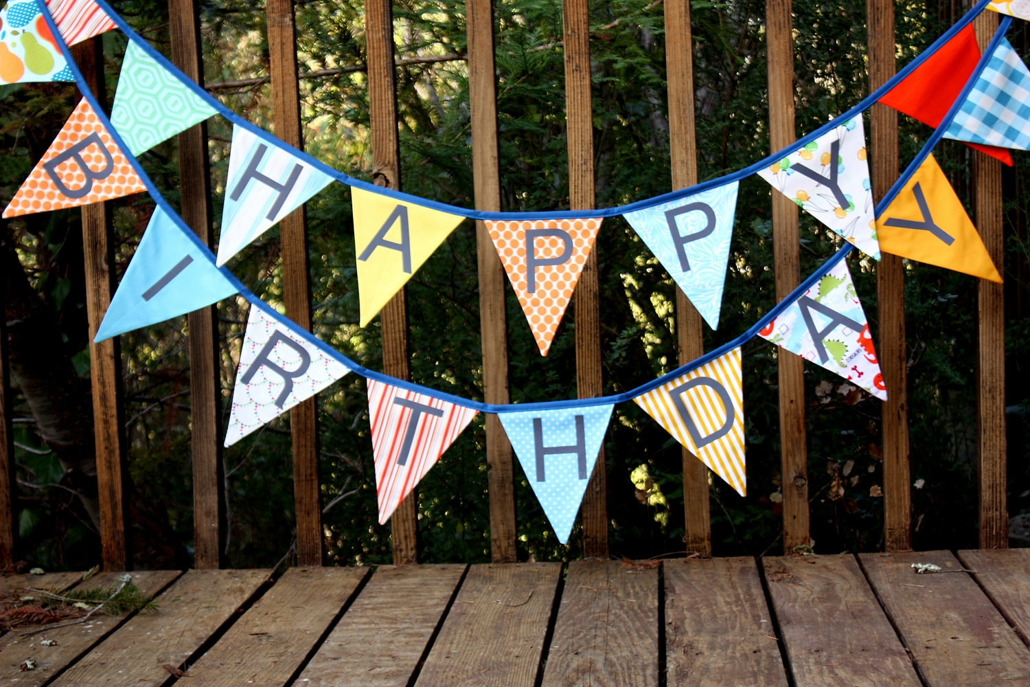 happy birthday flags bunting banner  a unique party