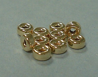 14kt gold filled smooth roundel 5 mm / 5 pieces buy 1 get 1 free.......