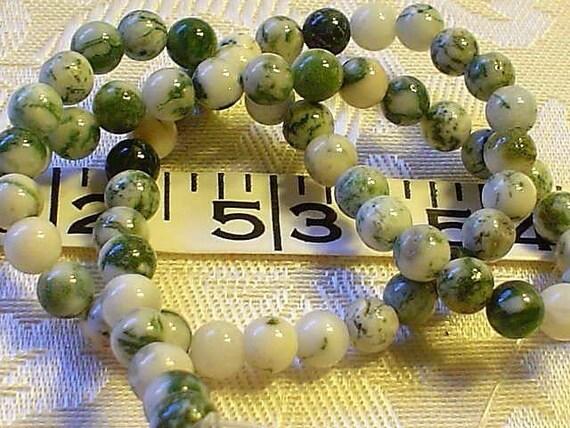 gemstone tree agate round beads 6mm 30 pieces half strand