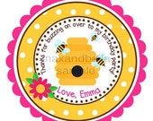 Bumble Bee Personalized Stickers, Gift Tags, Party Favors, Address Labels, Birthday Stickers, Beehive, Insect, Bumble Bee - Set of 12