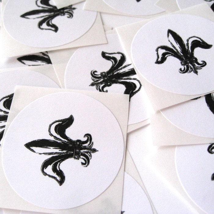 Fleur De Lis Stickers Set Of 24