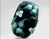 Handmade Lampwork Floral Focal Bead - by FinishingTouchJewels