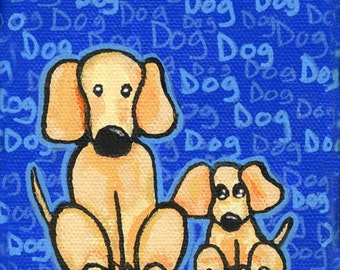Puppy dog and mom - Print