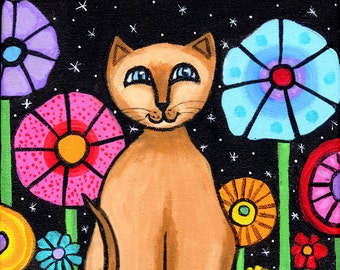 Siamese Cat PRINT by Shelagh Duffett