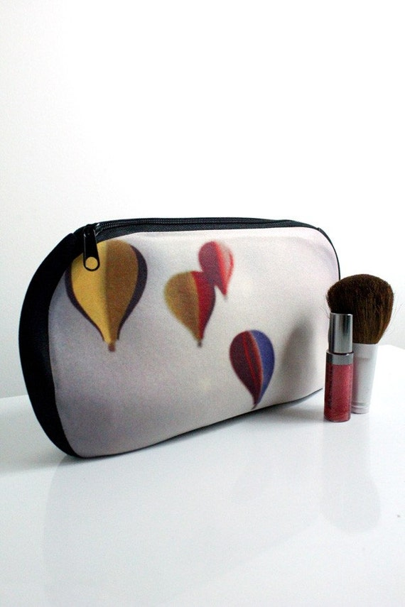 LAST ONE - Polaroid Hot Air Balloon Photo Pouch - Flying Free - Cosmetic Bag, Pencil Case, Clutch - Great for Bridesmaids, Back to School