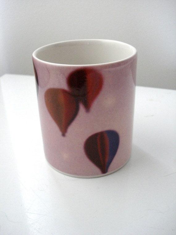 Hot Air Balloon Mug, Flying Free - Ceramic, Dishwasher Safe - Only One - Fun Housewarming Gift, Wedding Present, OOAK