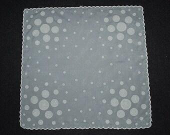 Vintage Hankie Handkerchief Circles