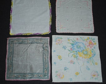 Vintage Hankies Set of 4