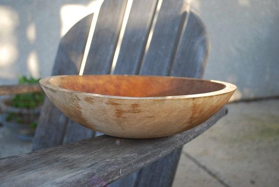 Vintage Wooden Primitive Dough Bowl