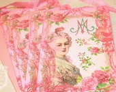 Marie Antoinette Pink Oui Marie Set of Six with Pretty In Pink Shimmer Envelopes