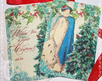 Christmas Garden Set of 6 Holiday Cards, Envelopes and Seals