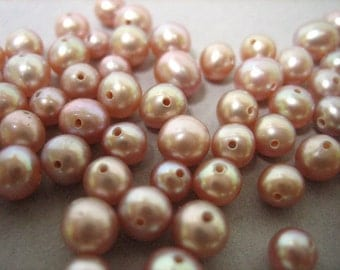 4mm Pink Pearls