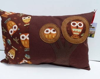 Retro Owls Rectangle - Zillow Pillow 12 in x 18 in