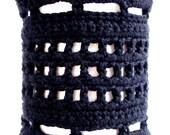 Big, Bold, Black Bracelet - PDF Crochet Pattern
