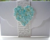 Special listing for GEM Powell for 40 Rochelle wedding invitations pale mint heart with RSVP