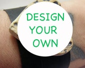 30% OFF SALE - Design Your Own -  Recycled Rubber Inner Tube Bracelet