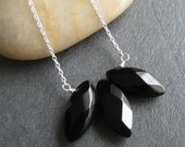 Faceted Black Onyx and Sterling Silver Necklace