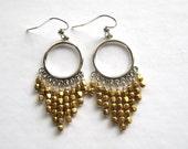 Brass Chandelier Earrings, Sterling Chandelier Earrings, Boho Jewelry, Mixed Metal Jewelry, Brass Beads Under 50