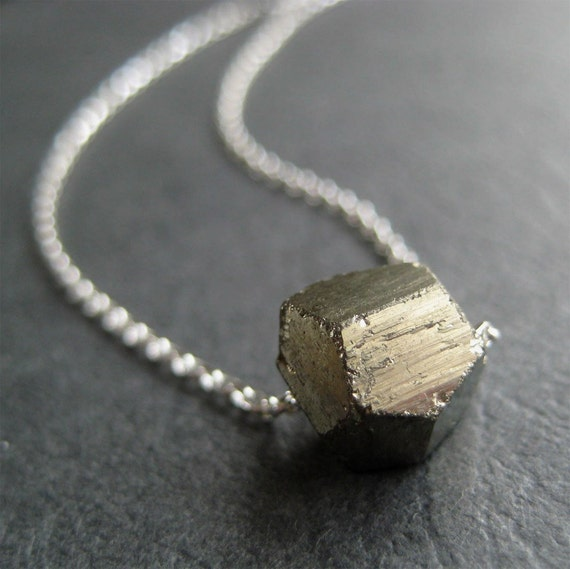 Pyrite Nugget Sterling Silver Necklace
