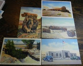 Vintage Arizona Postcards 5 pieces great for altered art
