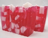 Clearance Sale - Free Shipping - Peppermint Candy Cane Soap