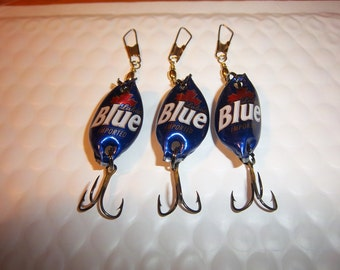 Labatt Blue Beer Cap Lures (3)