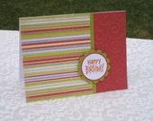 Happy Birthday - Vibrant Stripes
