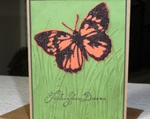 Follow your dreams - Blank Note Card - Monarch Butterfly