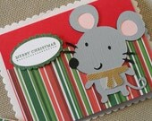 Christmas Mouse - Blank note card
