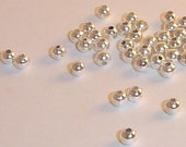 2mm Silver Spacer Beads