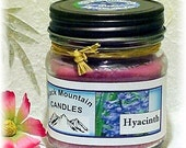 Hyacinth Soy Candle 8 ounces Handmade by Black Mountain Candles