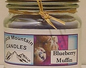 Blueberry Muffin 8 ounce Handmade Soy Candle Black Mountain Candles