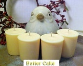 4 BUTTER CAKE Soy Wax Votive Candles Handmade by  Black Mountain Candles