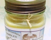 BUTTERMILK PANCAKES Soy Candle in Mason Jar Handmade by  Black Mountain Candles 8 ounces