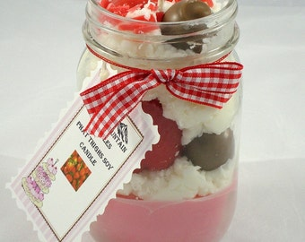 Phat Thighs Chocolate Covered Strawberry Primitive Soy Candle Black Mountain Candles