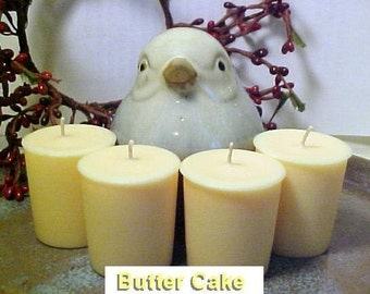 4 Soy Votive Candles BUTTER CAKE Handmade by  Black Mountain Candles