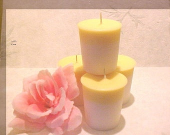 4 Soy Votive Candles in LEMON BUNDT CAKE Handmade by Black Mountain Candles