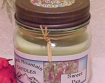 SWEET PEA Soy Candle  Handmade by Black Mountain Candles