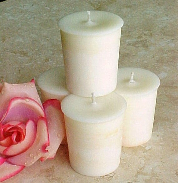 4 Soy Votive Candles AMBER ROMANCE VS Type Handmade by Black Mountain Candles