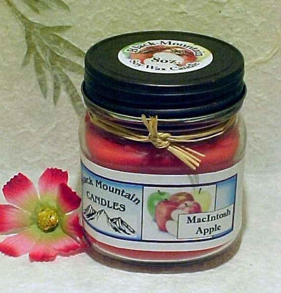 MacIntosh Apple Soy Candle by  Black Mountain Candles 8 ounces
