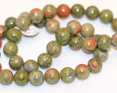 10mm Unakite Beads