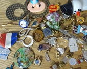 Junkdrawer no. 14  pins, key, medal, poo, flag