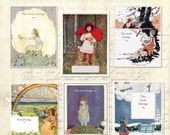 Assorted Vintage Little Girls BLANK Bookplates