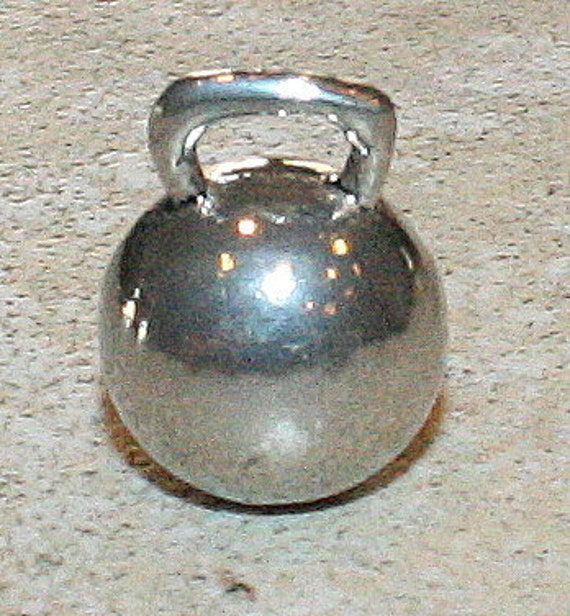CrossFit Lovers Kettlebell Pewter Pendant or Charm