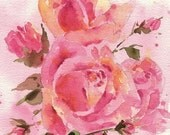 Roses Art Print - 10x8 inch