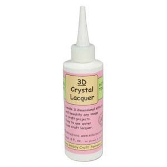 Crystal 3D Lacquer Sealant Glue Large 4oz Bottle