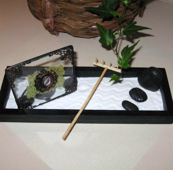 Desk Top Zen Garden Terrarium Complete With By