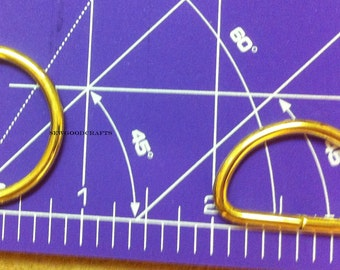10 PIECES Gold Colour 1 inch Unwelded D Rings for Webbing and Leather Products