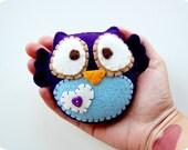 Purple Owl Plush Eco Friendly Toy