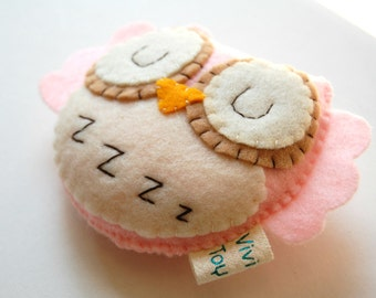 Shhhh... She is sleeping... Eco Friendly Plush Owl Stuffed Toy